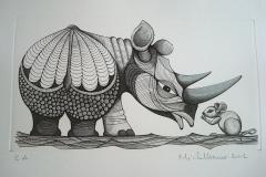 Rhinoceros-a-la-souris--294mm-X-162mm